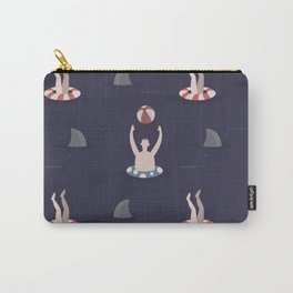Swimming with Sharks (Patterns Please) Carry-All Pouch