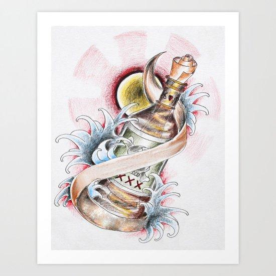 Love in a Bottle Art Print