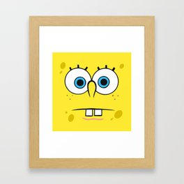 Spongebob Surprised Face Framed Art Print