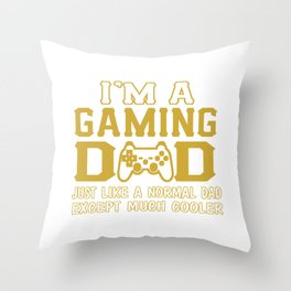 I'M A GAMING DAD Throw Pillow