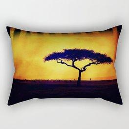 African Farmers Sunset Zebra Rectangular Pillow