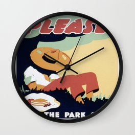 Vintage poster - Please Keep the Park Clean Wall Clock