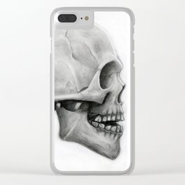 human skull Clear iPhone Case