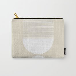 Linen Inverted White Scale Shutter Mirror Carry-All Pouch