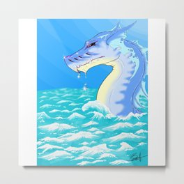 Chromatic Dragon Metal Print