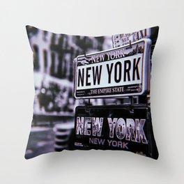 New York City Vintage Throw Pillow