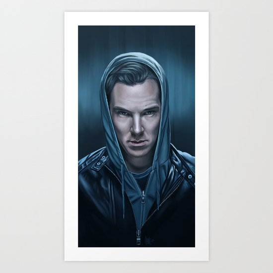 Blue Steel - Benedict Cumberbatch Art Print
