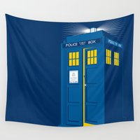 tardis Wall Tapestries featuring TARDIS by Digital Arts & Crafts by eXistenZ