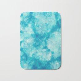 Cute Blue abstract paint Bath Mat