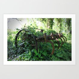 Rusty Relic. Art Print