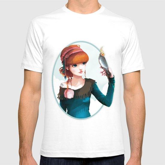 Rose et l'oiseau T-shirt