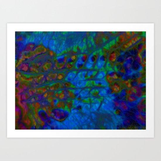 Blue IceTracks Art Print