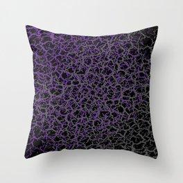 Purple, Black, and Grey Web Crackle Print Throw Pillow