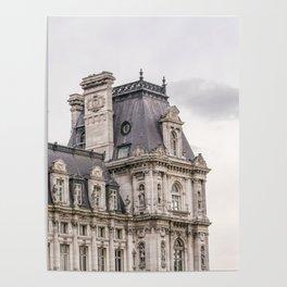 Paris Hotel de Ville Poster