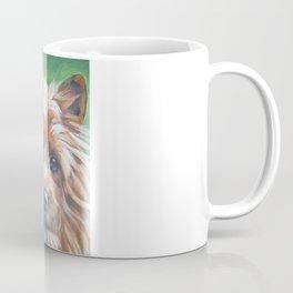 beautiful Australian Terrier dog portrait from an original painting by L.A.Shepard Coffee Mug