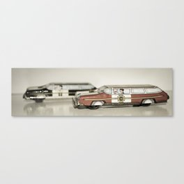 Chief&Police Car Tin Toy Canvas Print