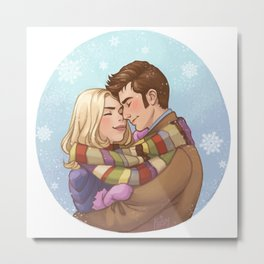 Sharing Warmth Metal Print
