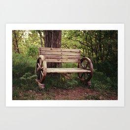 Benches Art Print