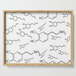 chemical structure for happiness Serving Tray