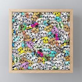Gemstone Pugs Dogs Framed Mini Art Print