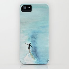surfer on the nose iPhone Case