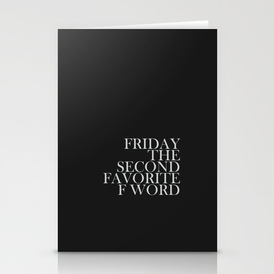 """Favorite """"F"""" Word. Stationery Cards"""