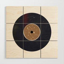 Vinyl Record Star Sign Art | Gemini Wood Wall Art
