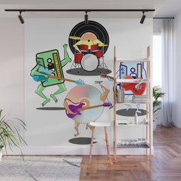Retro Band Wall Mural