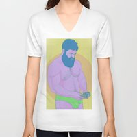 game of thrones V-neck T-shirts featuring Game by Mavekk
