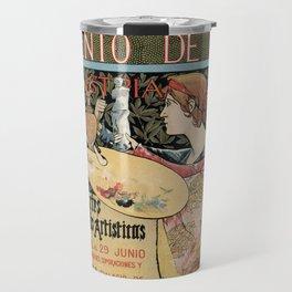 Vintage Art Nouveau expo Barcelona 1896 Travel Mug