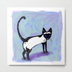 Cat Tocks Metal Print