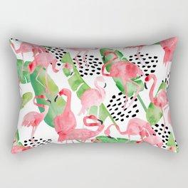 Flamingo Paradise Rectangular Pillow
