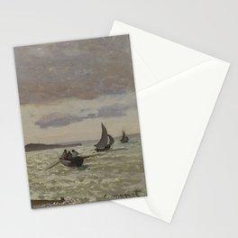 The Seashore at Sainte-Adresse Stationery Cards