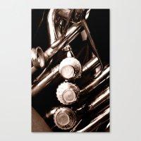 jazz Canvas Prints featuring Jazz by KunstFabrik_StaticMovement Manu Jobst