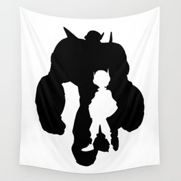 Baymax & Hiro Silhouette Wall Tapestry