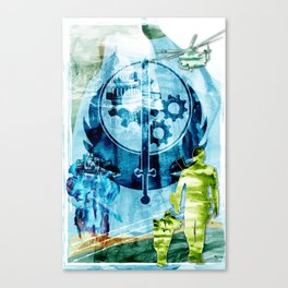"""Fallout """"The Brotherhood of Steel"""" Canvas Print"""