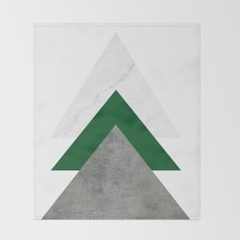 Marble Green Concrete Arrows Collage Throw Blanket