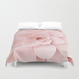 Blush Succulent Duvet Cover