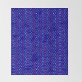 Blue Scissor Stripes Throw Blanket