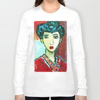 matisse Long Sleeve T-shirts featuring LADY MATISSE IN TEEN YEARS by JANUARY FROST