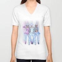 manga V-neck T-shirts featuring Manga Girls by Illu-Pic-A.T.Art