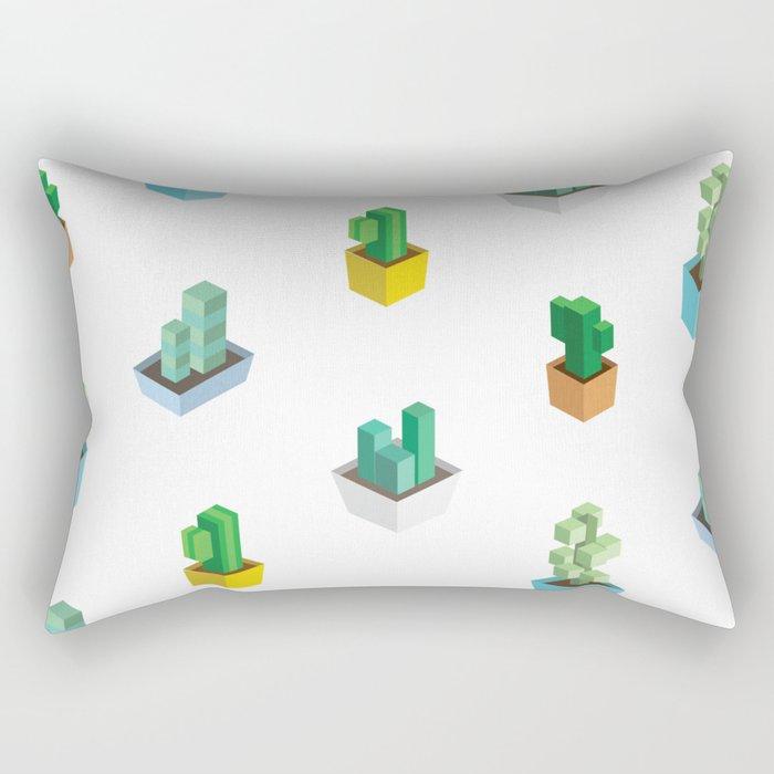 Cactus Cubes Rectangular Pillow