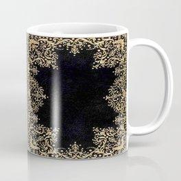 Black and Gold Filigree Coffee Mug