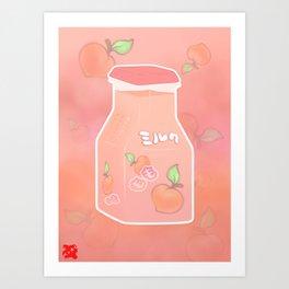 もも ミルク | Peach Milk Art Print