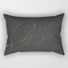 Silver Athens City Map Rectangular Pillow