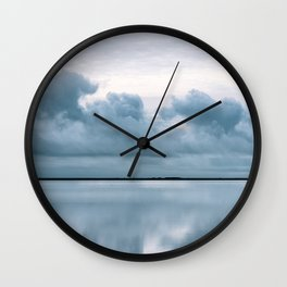 Epic Sky reflection in Iceland - Landscape Photography Wall Clock