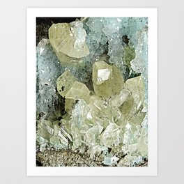 chrysocolla & calcite Art Print