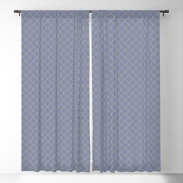 Earthy Green on Mellow Purple Parable to 2020 Color of the Year Back to Nature Angled Grid Pattern Blackout Curtain