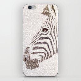 The Intellectual Zebra iPhone Skin