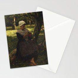 Jules Breton - A Peasant Girl Knitting Stationery Cards